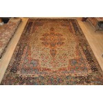 Large Antique Persian Kerman Rug Place Size light Green Color