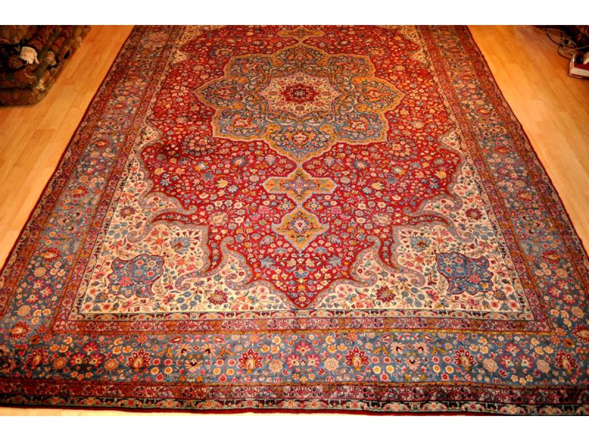 Sold Out Elegant Palace Size Antique Persian 11 X 16 Kerman Museum Piece