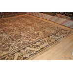 Extra Large Vegetable Dye 12x18 ft. Vegetable Dyed Rug Beige
