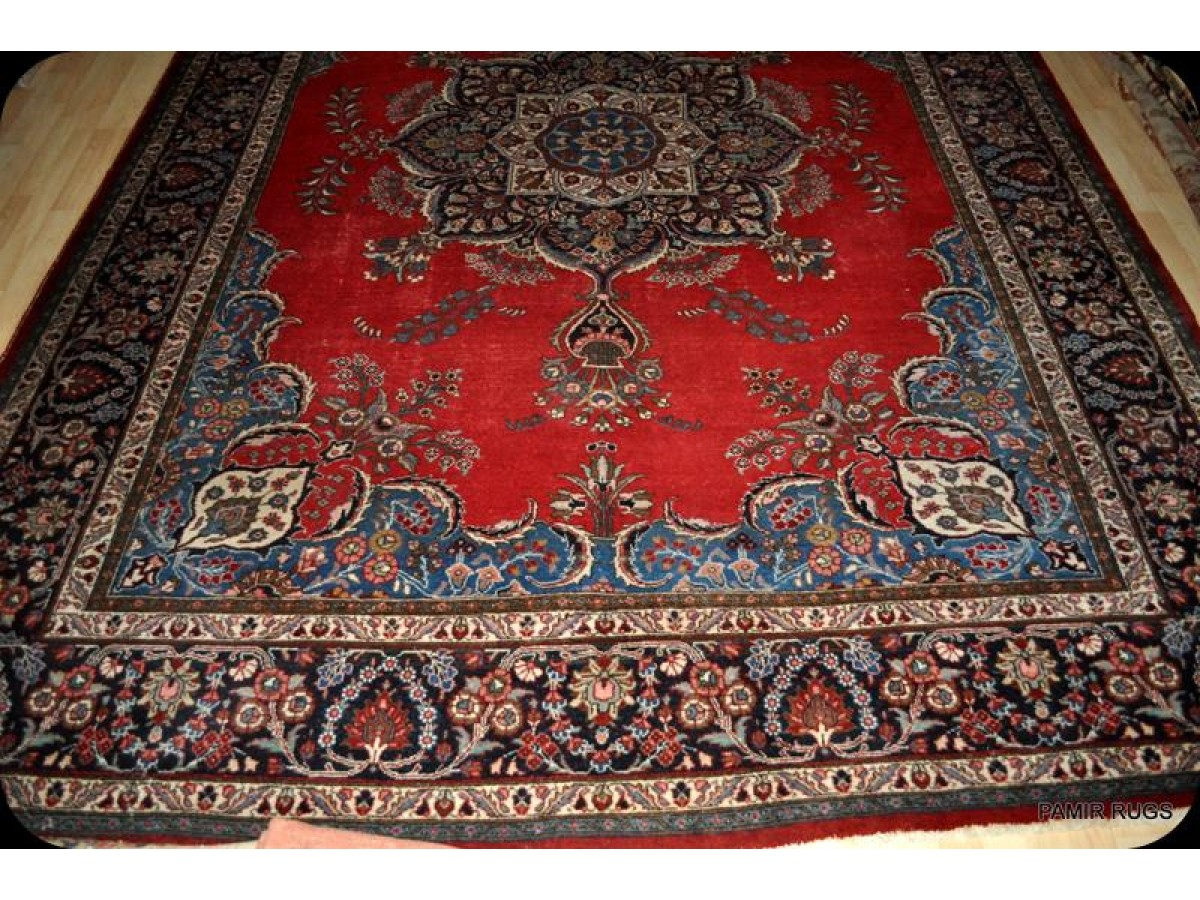 Large Handmade Authentic Persian Tabriz Rug On Sale Red