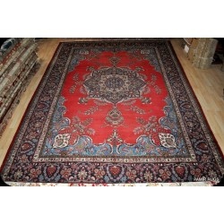 Room Size Red Background Antique Persian Tabriz Rug on Sale