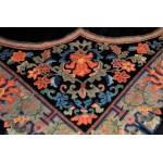 12' X 13' Vintage Black & Blue One of a kind Antique Chinese Rug