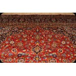 A Vivacious Persian Esfahan red color Persian Rug