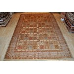Extra Large 10' X 14' Garden Design Soft Colors  Hand Knotted Rug