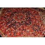 Antique Persian Heriz Rug 10' X 12' Natural Wool Natural Color Rug