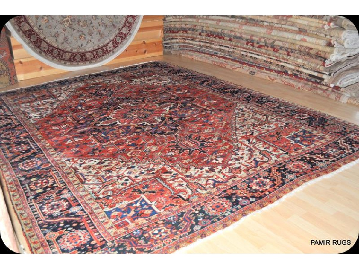 Antique Persian Heriz Circa 1900 Elegantorientalrugs Com