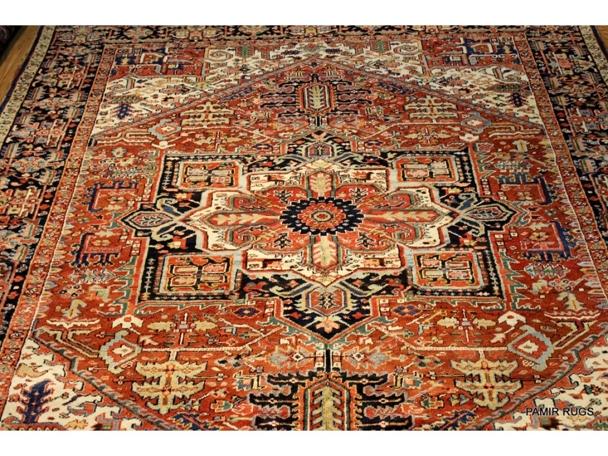 10 X 13 Antique Persian Mahal Authentic Rug Made In