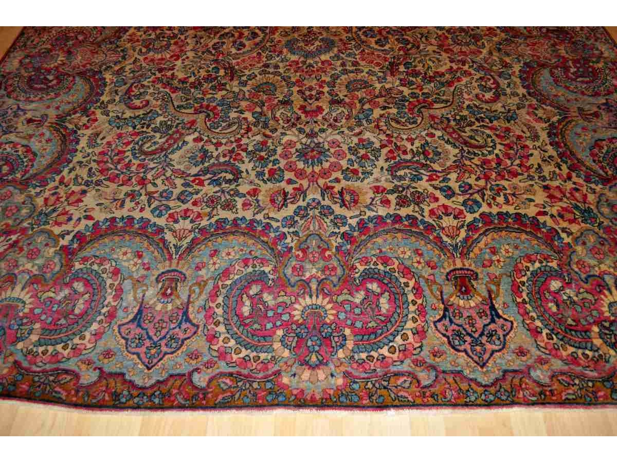 authentic persian floral kerman rug. Black Bedroom Furniture Sets. Home Design Ideas