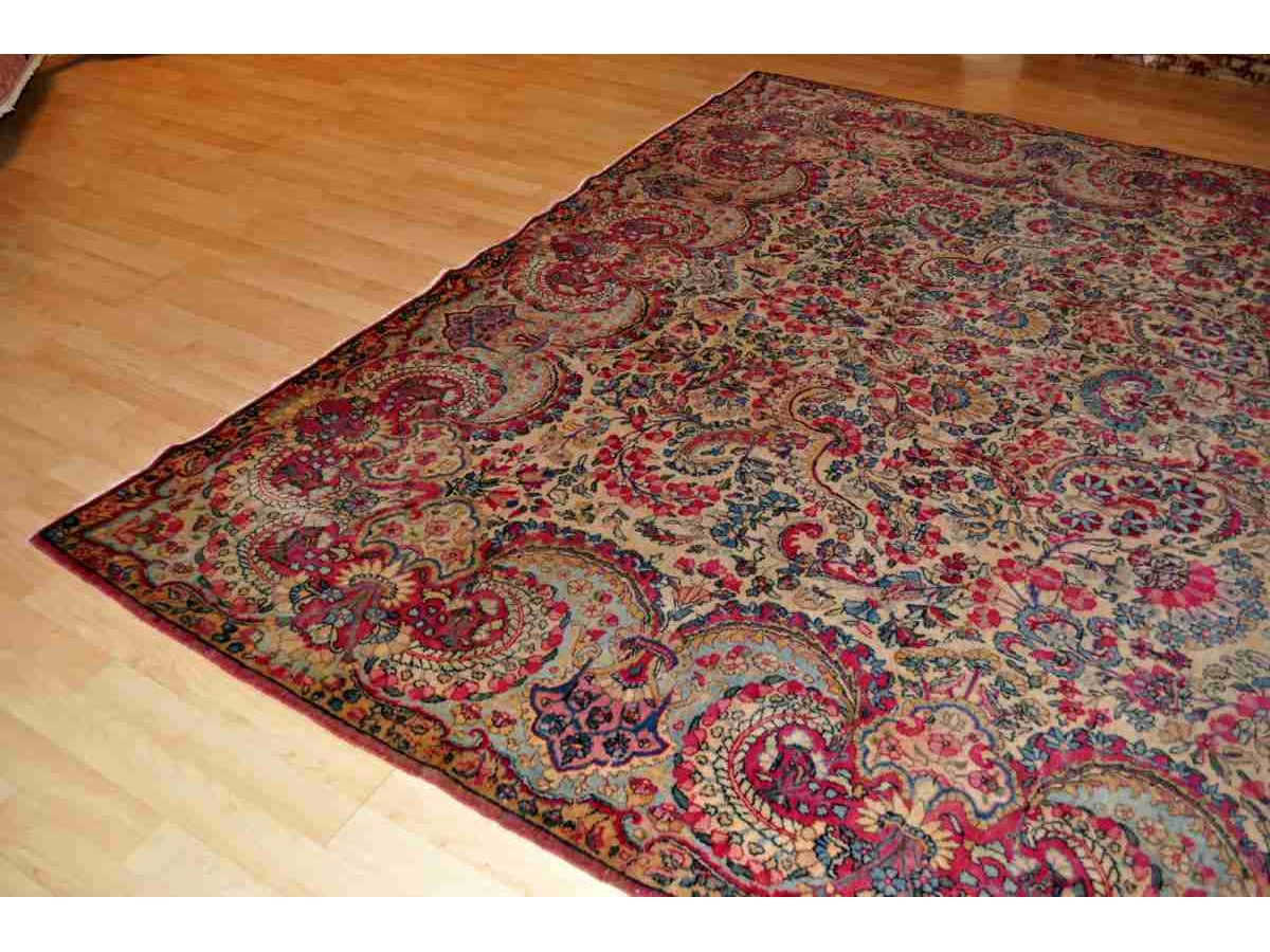 Authentic Persian Fl Kerman Rug