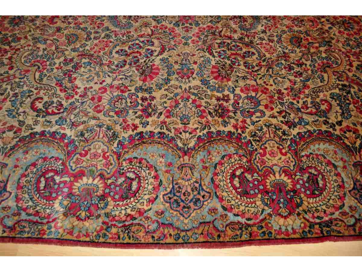 Authentic Persian Floral Kerman Rug Elegantorientalrugs Com