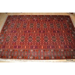 Authentic Turkmen Saryk  Antique Handmade Rug Circa 1930's
