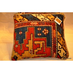 PAIR OF 19th Century Handmade Caucasian Shirvan Pillows