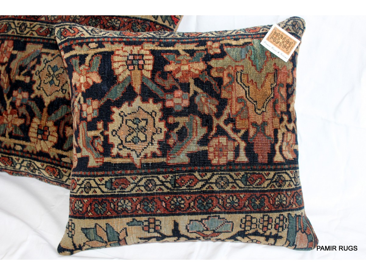 Buy Now Pair Of 19th Century Persian Sarouk Pillows Made