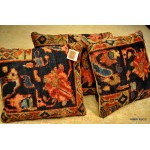 Handmade Antique Persian Mahal Pillow