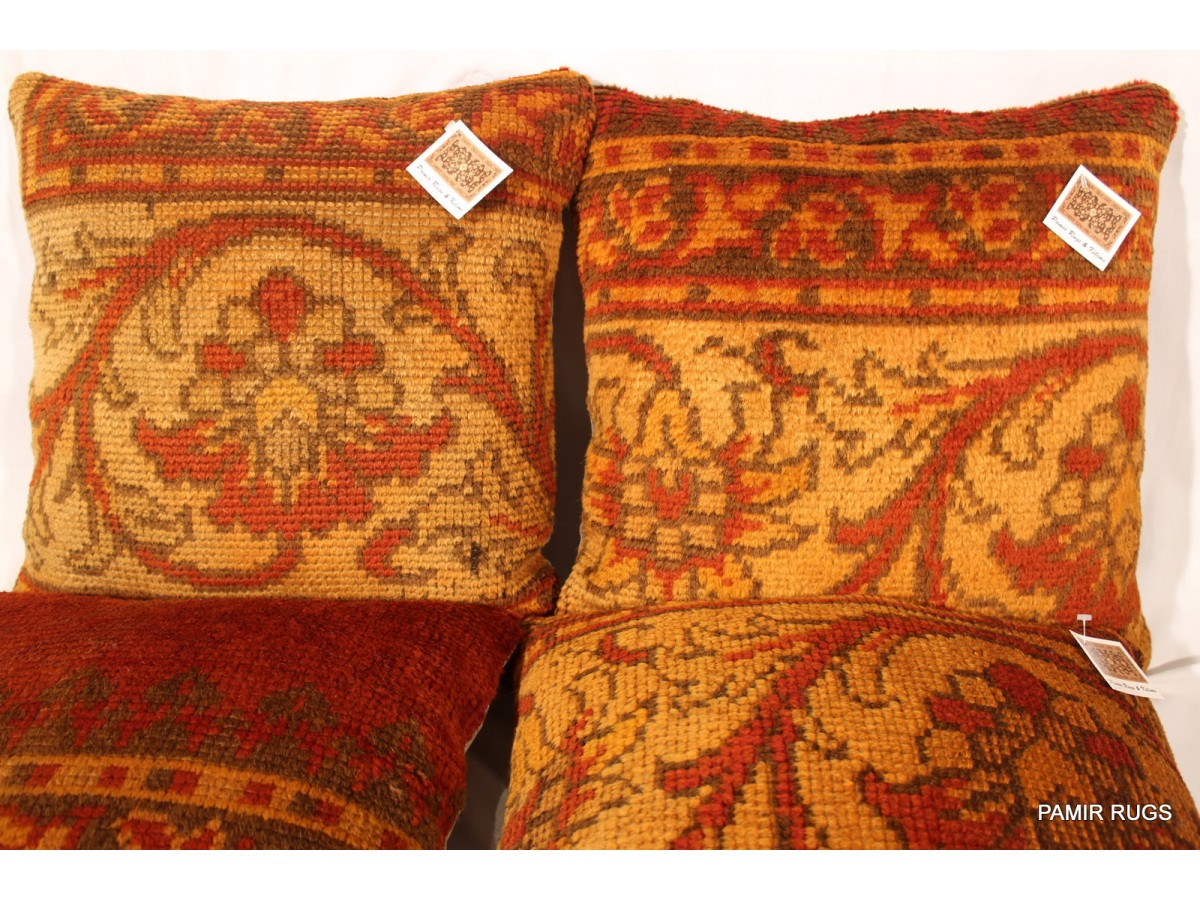 Set Of Two Decorative Handmade Pillows Made Out Of Antique