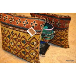 PAIR OF Handmade Pillow made out of Antique Caucasian Shirvan