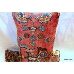 Antique Kashan Handmade Pillow