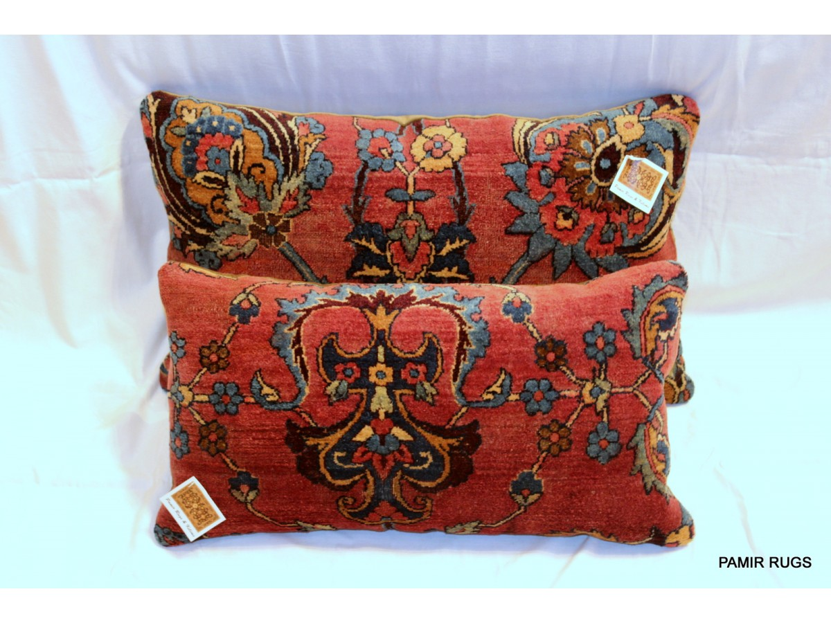 Decorative Elegant Handmade Antique Kashan Pillows Made