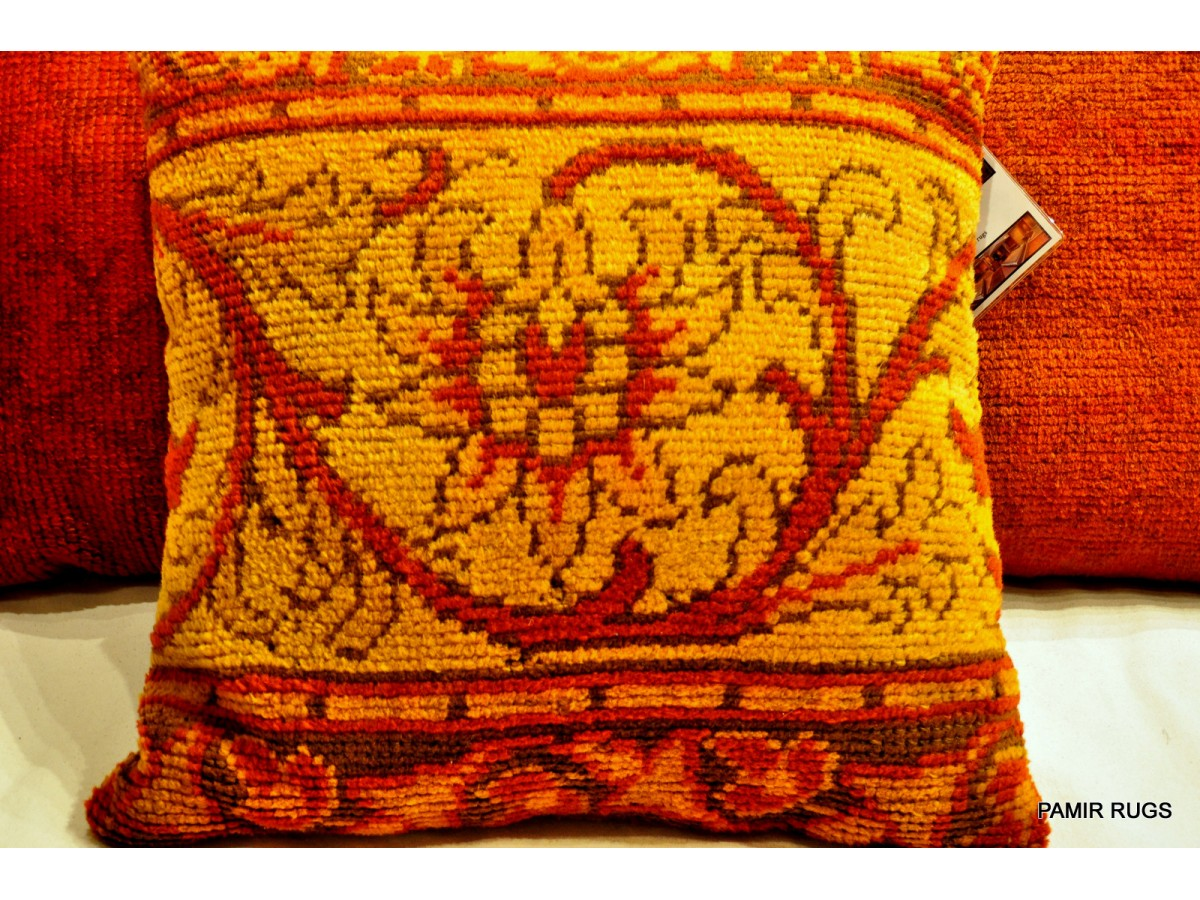 Decorative Handmade Antique Pillows Made out of Handmade Oushak Rug Turkish Anatolian. Only $450.00
