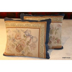 French Aubusson Handmade Pillow