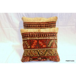 PAIR OF Antique Persian Serab Kurdish Pillow