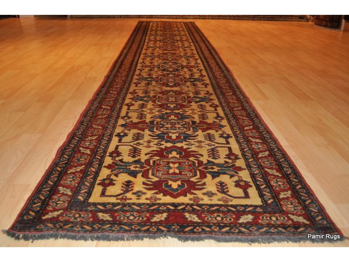14 Ft Long Hall Runner Made Out Of 100 Natural Wool