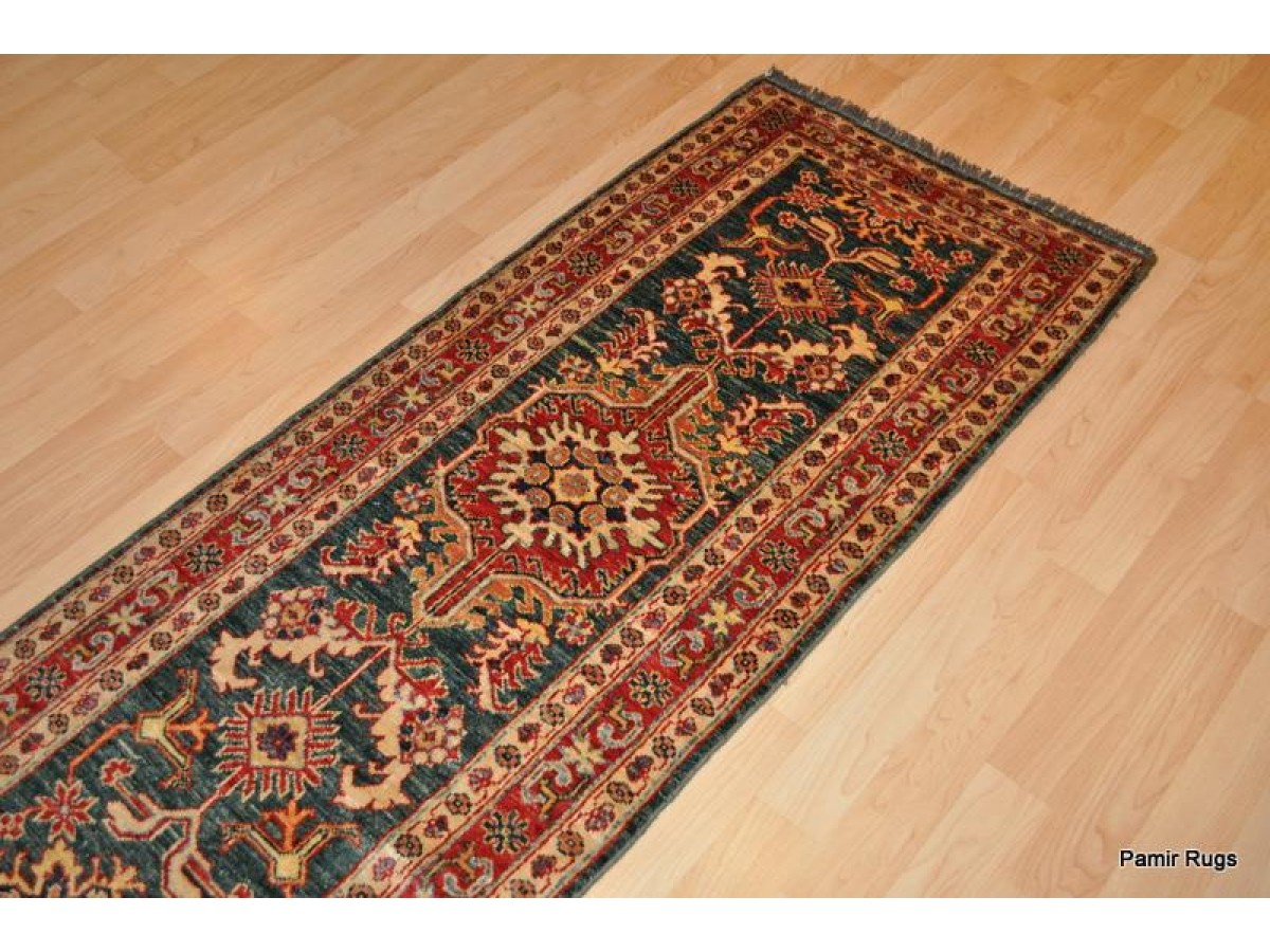 10 Ft Long Handmade Caucasian Design Skinny Hall Runner