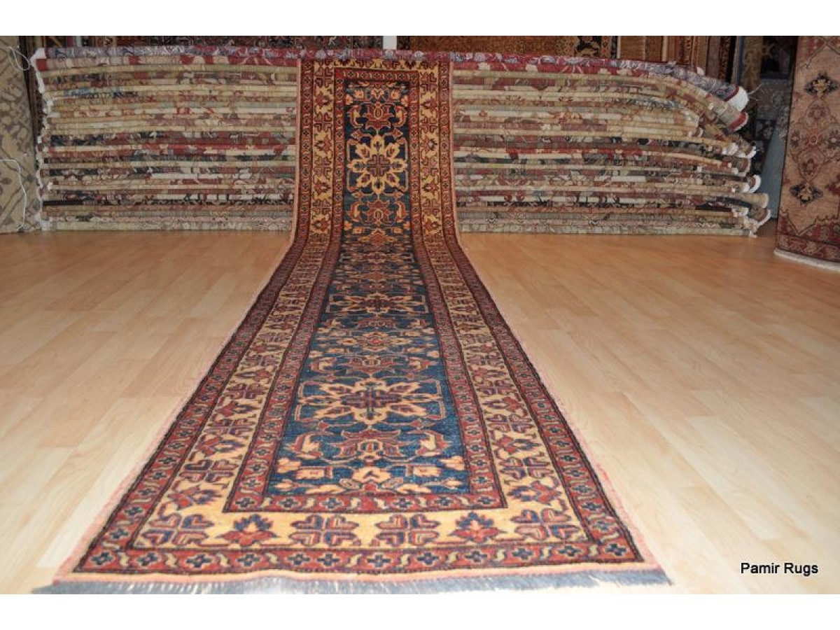 13 Ft Handmade Hand Knotted Hall Runner Caucasian Kazak