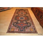 Antique Persian Bakhtiari Circa 1930's 10 Ft. Long Wide Rug.