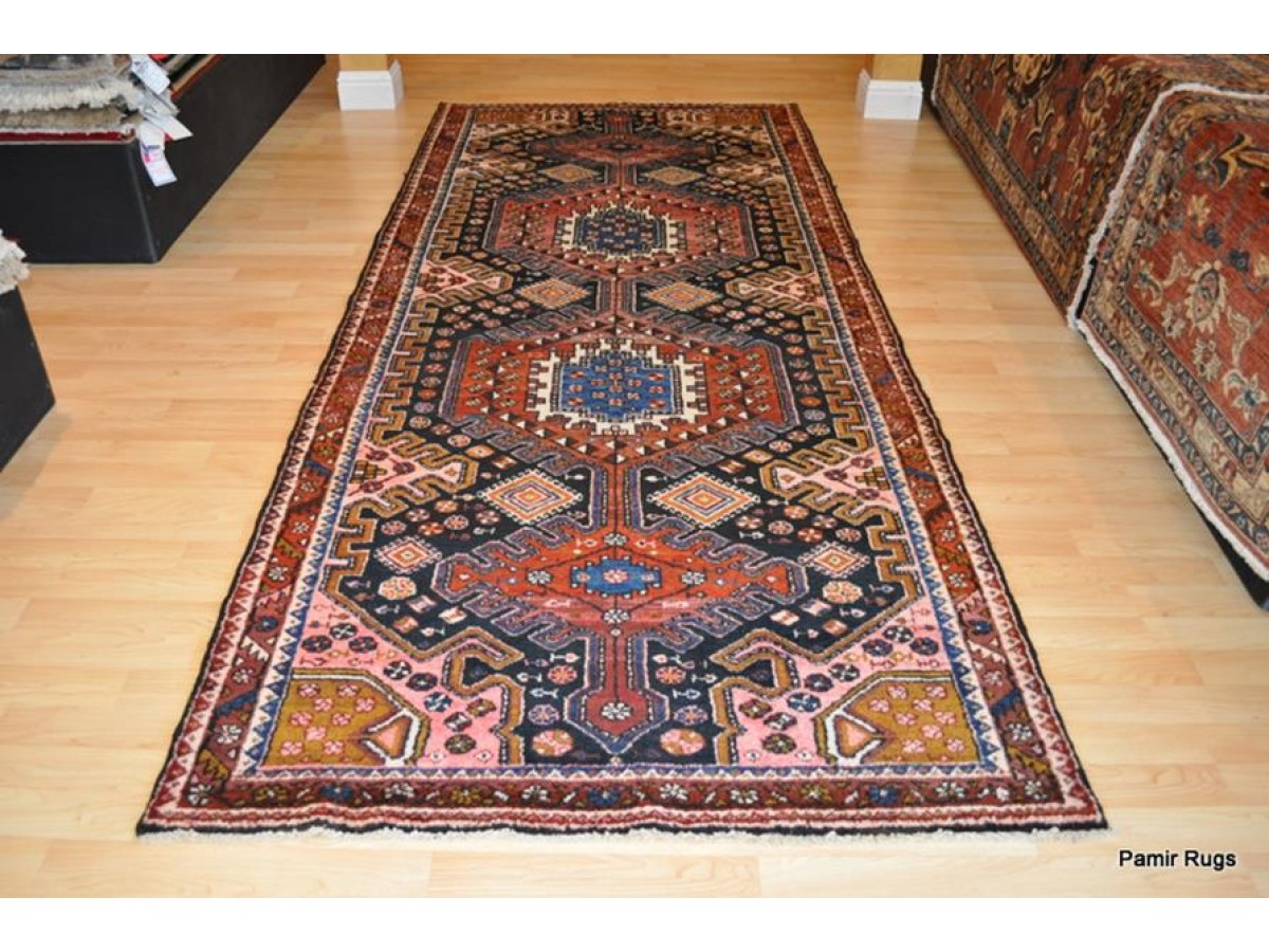 Antique Persian Balhtiari Rug Matches Persian Heriz