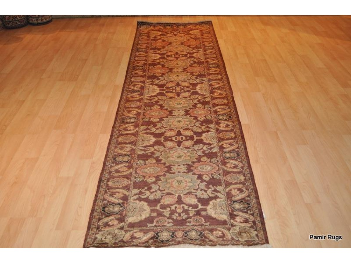 Hall Runner Handmade 9ft Long Vegetable Dyed With Dark