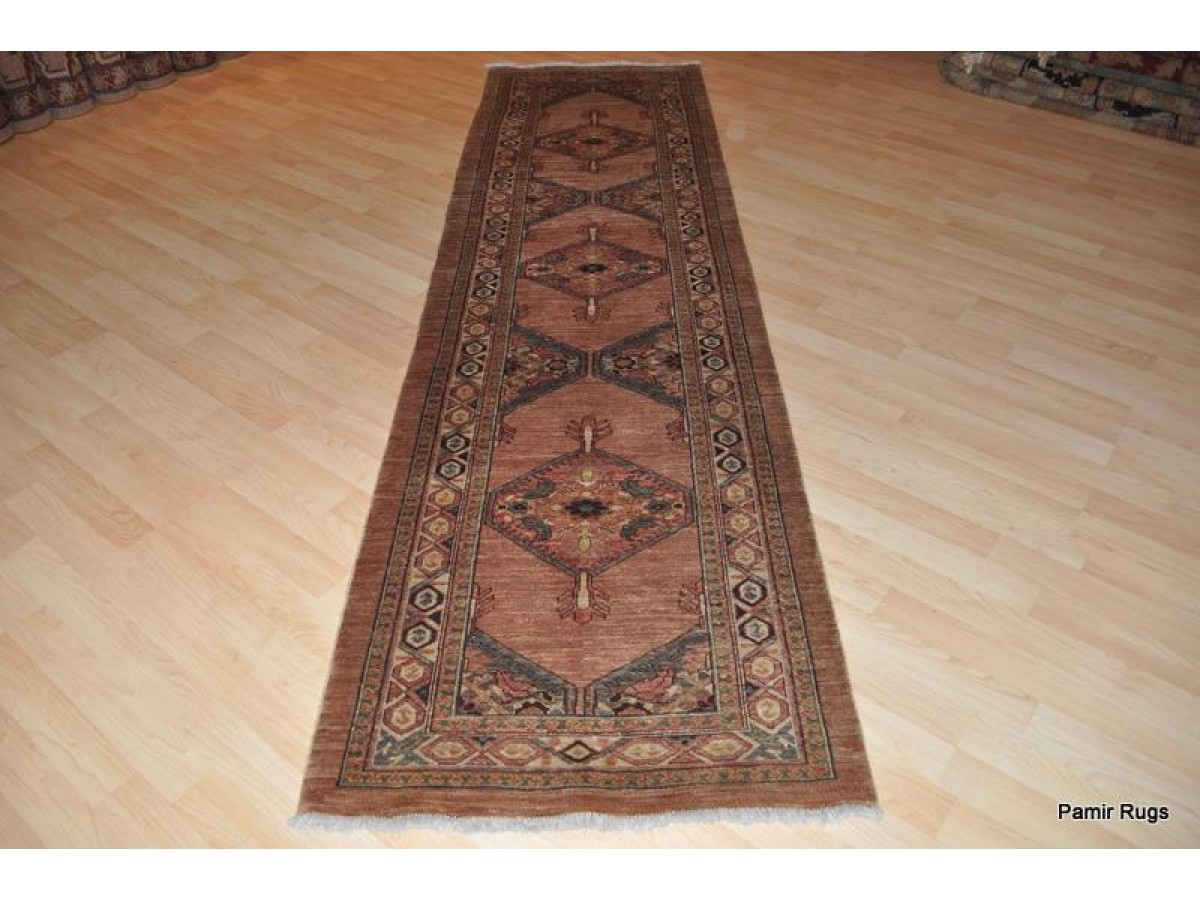 10 Ft Long Hall Runner Persian Serab Rug Vegetable Dyed Chobi Carpet