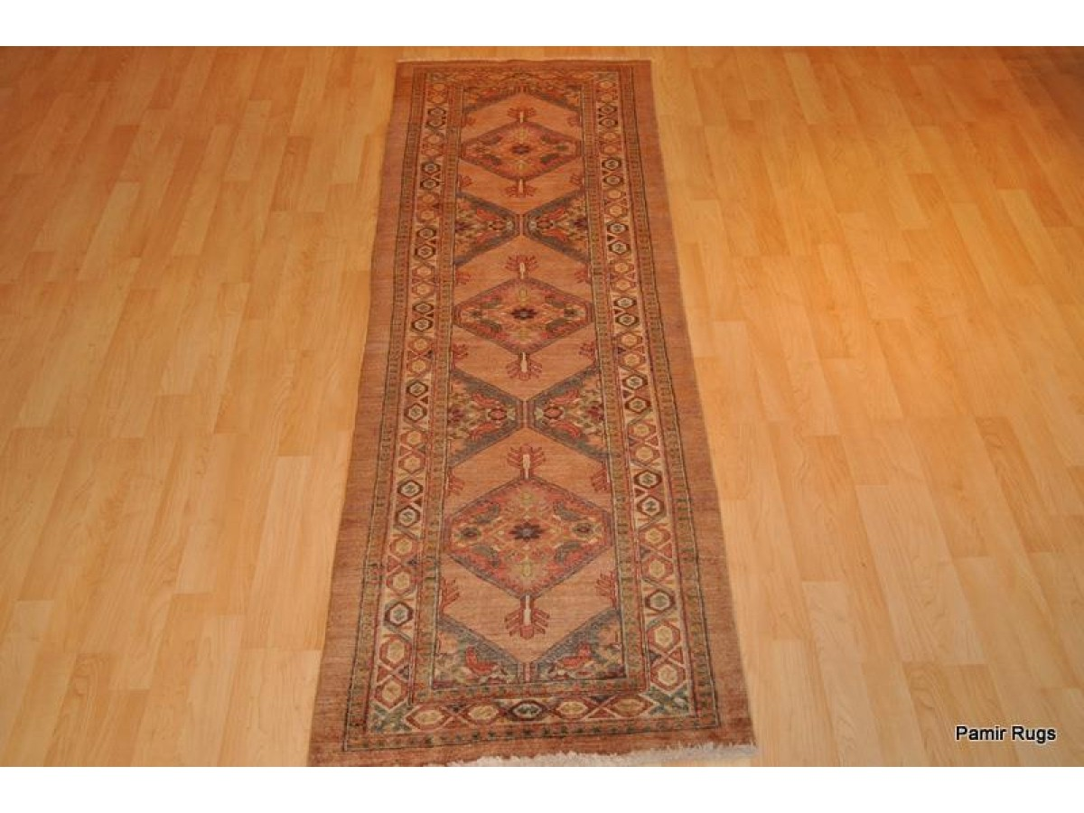 9 Foot Long Handmade Vegetable Dyed Chobi Persian Serab