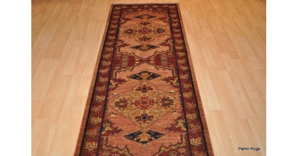 14 Ft Long Persian Runner Vegetable Dyed Hand Woven