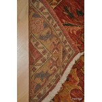 10' Long Persian Hall Runner. Rust Color Background. Elegant Floral