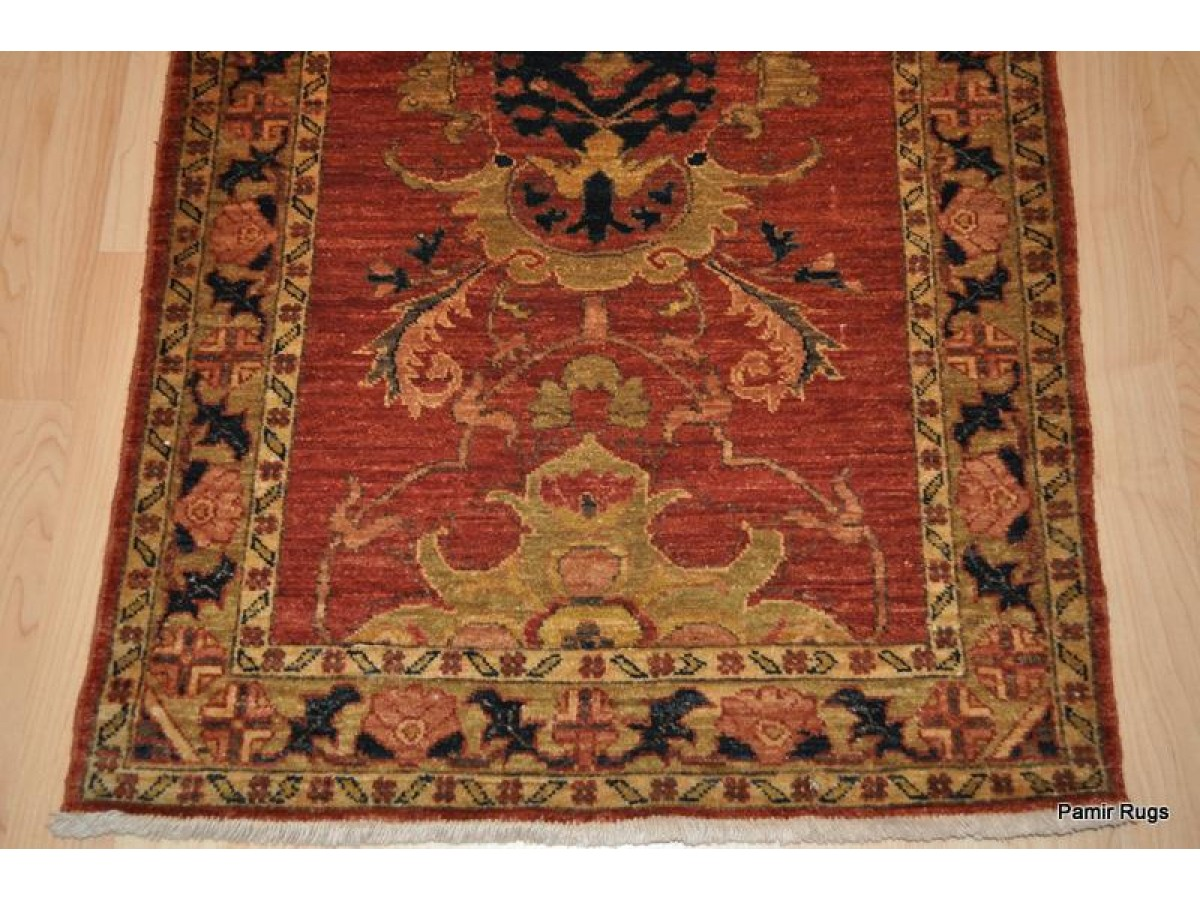Elegant Fine Persian Hall Runner Vegetable Dyed Chobi Rug
