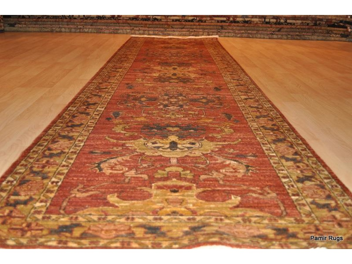 Fine Quality Muted Color Handmade Runner Eleven Foot