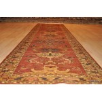 Best Quality 11 Ft. Long Hall Runner Rust Orange Color Background