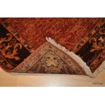Fine Quality 8 Foot Long Persian Rug, Red Brick Color Rug,
