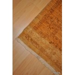 11 Foot Long Hall Runner Beige, Gold Background Light Color Muted Rug.
