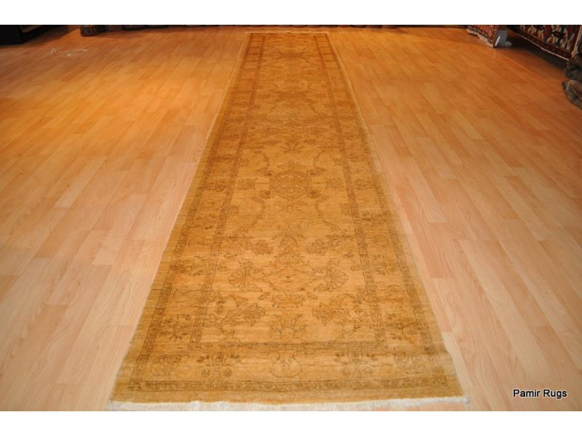 Top Quality Vegetable Dyed Muted Gold Color Hall Runner 11