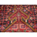 Antique Persian Rug. Red and Blue Color. Persian Bakhtyari.