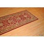 10 Foot Hall Runner. Persian Vegetable Dyed Natural Wool Rug.