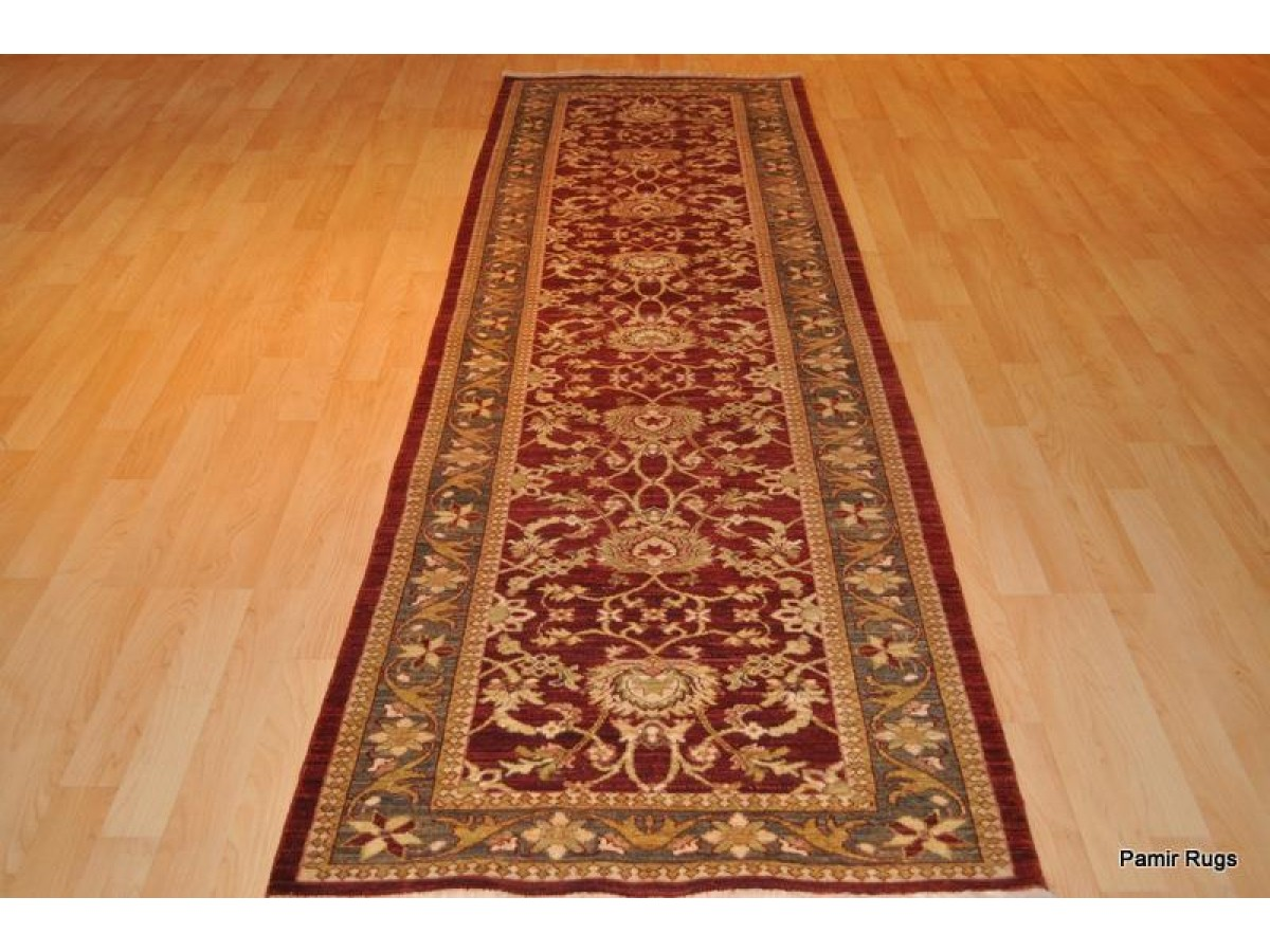 Lovely 10 Foot Hall Runner. Persian Vegetable Dyed Natural Wool Rug.