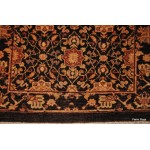 Dark Chocolate Brown Color Hall Runner Vegetable Dyed Chobi Rug