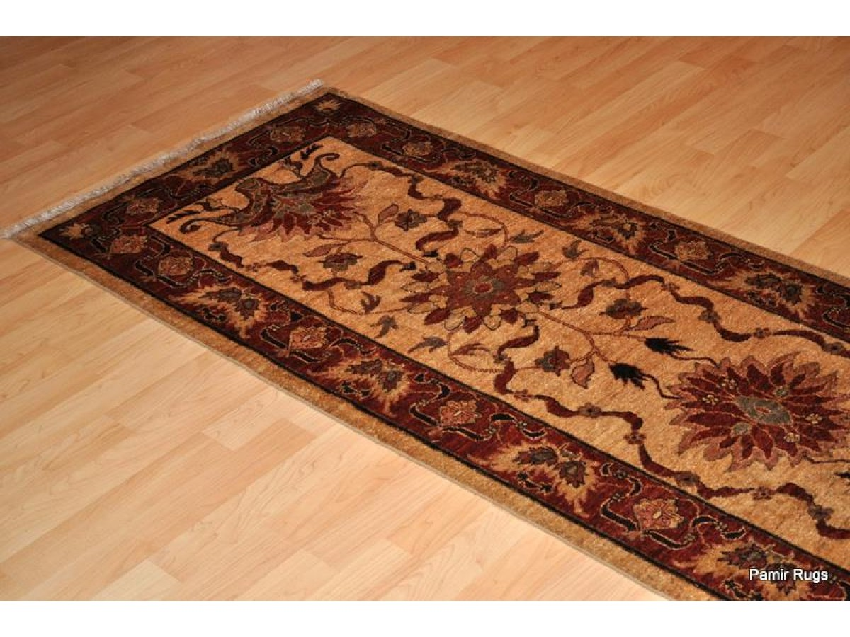 Long Runner Vegetable Dyed Hand Woven Persian Floral