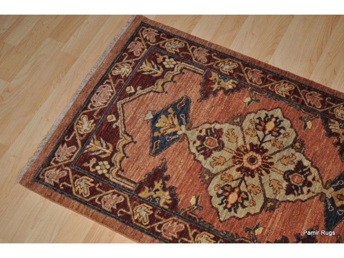 Small Fine Quality Hall Runner Vegetable Dyed Persian