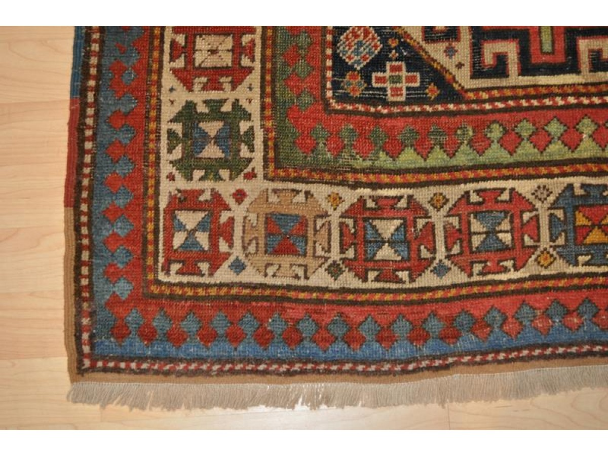 Antique Caucasian Moghan Kazak Circa 1850 S Authentic