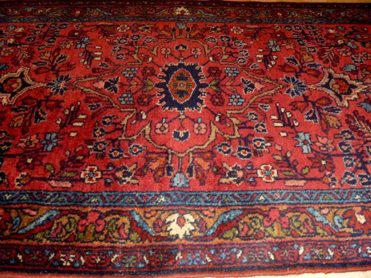 2 9 X 7 Authentic Handmade Persian Lilihan Sarouk Rug