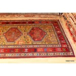 Persian Sumak Kilim Rug Hall Runner with Animal Motives